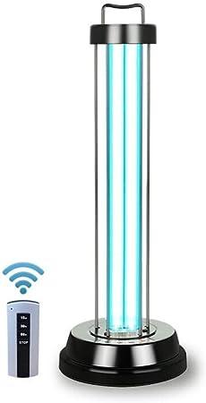 Luz de esterilización de la lámpara de desinfección por ozono, Temporizador de Control Remoto Eliminar el formaldehído Eliminar los ácaros Purificador de Aire para el baño doméstico Área de Mascotas: Amazon.es: Hogar