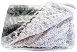 GoodDogBeds 40 by 60-Inch Faux Fur Dog Blanket, Large, Grey Chinchilla
