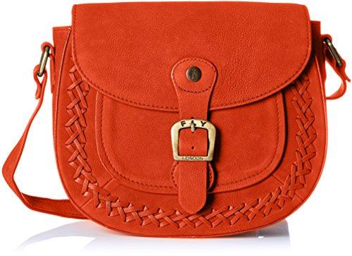 Fly London Women's Zeek602fly Cross-Body Bag Orange (Poppy Orange)