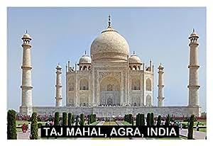 IMÁN PARA NEVERA - RECUERDO de THE TAJ MAHAL INDIA 9cm x 6cm Jumbo