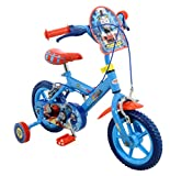 Thomas & Friends Thomas Boys Kids Bike Blue 1 Inch Steel Frame 1 Speed Fully Enclosed Printed Chainguard Removable Stabilisers 12-Inch Blue