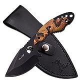 Elk Ridge Fixed Blade Hunter Outdoor Wood Handles, Camo