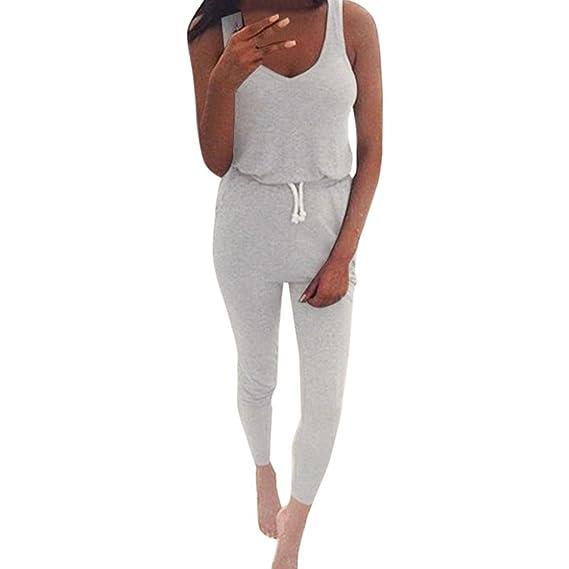 manadlian Jumpsuit Mujer Elegante Verano Pantalones Traje ...