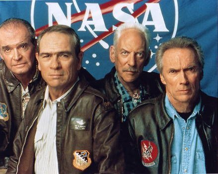 Eastwood Movie Photo - Bromide photo movie Space Cowboys 4 people / Clint Eastwood, Tommy Lee Jones, Donald Sutherland, James Cromwell