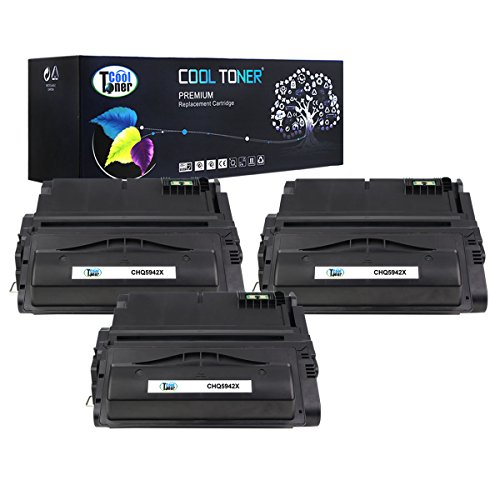 Cool Toner 3 Pack 20,000 Pages Compatible Toner Cartridge Replacement For HP 42X Q5942X Q1338A Q5942 Used For HP LaserJet 4200 4240 4250 4250TN 4250N 4250DTN 4300 4350 4345MFP 4350N 4350TN 4350DTN