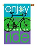Breeze Decor H109040 Bike Ride Interests Sports Decorative Vertical House Flag, 28″ x 40″, Multicolor Review
