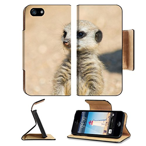 Liili Apple iPhone 5 iPhone 5S Pu Leather Flip Case A Meerkat watching out for the group iPhone5 Image ID - Discount Of Out Coupons Africa
