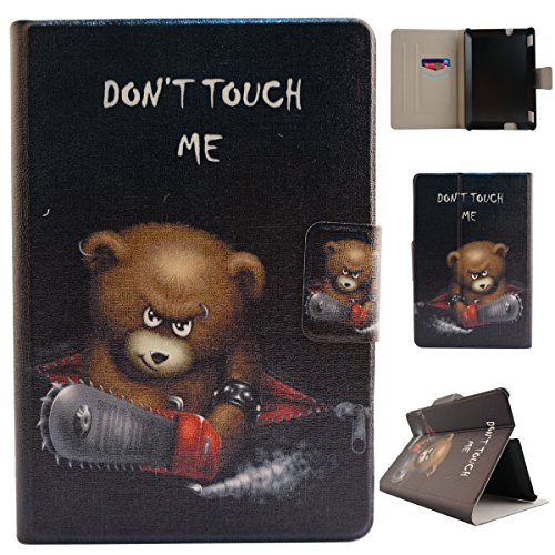 Fire HDX 7 funda , Amazon Kindle Fire HDX 7 funda , Lifetrut® [ Dont Touch My Phone ] [Slim Fit] [Soporte REPORTAJE] tirón en folio de la PU de la cubierta de la caja del cuero de la piel incorpora