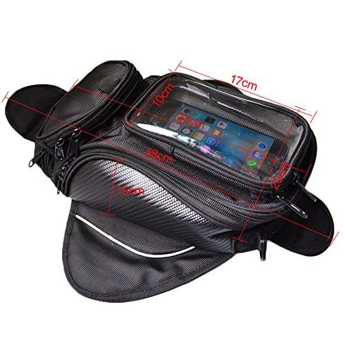 6S Pouch Moto Borsa da Serbatoio Magnetica Motocicletta Equitazione Bagagliai con GPS Iphone 6