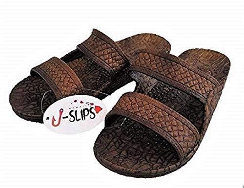 J-Slips Hawaiian Jesus Sandals in 4 Cool Colors Womens and Big Mens (L) Women 10 / Men 9, Kona