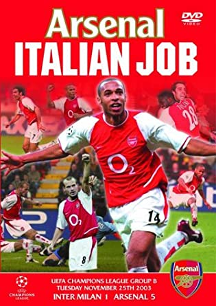 6cf43317a Arsenal Fc  The Italian Job  DVD   Amazon.co.uk  Arsenal Fc  DVD ...