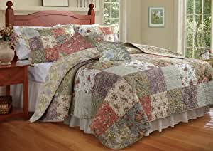 Amazon Com Greenland Home Blooming Prairie King Quilt