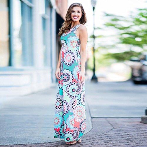 Style avec Corset avec Poches Robe Floral sans Crois Soire Chic Maxi XXL Femme Bleu Longue d't Guesspower S de Sexy Robe Imprim Robe Bohme Manches Wrap Zv0qnO