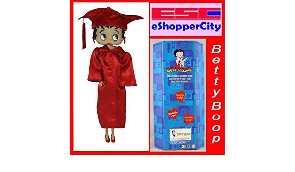 """Betty Boop College School Graduate Gown Doll 12/""""  Red High School College"""