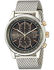Citizen Mens CA0336-52H Stainless Steel Eco-Drive Watch