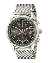 Citizen Men'S Ca0336-52H Eco-Drive Mesh Chronograph Watch