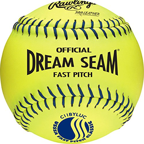 Rawlings Official USSSA Fastpitch Softballs, 12 Count, C11BYLUC