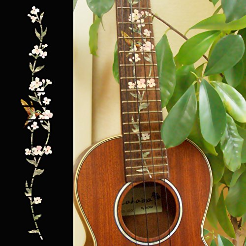 Ukulele - Concert Fretboard Markers Inlay Sticker Decal Tree of Life w/Hummingbird Concert Decal