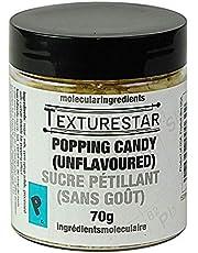 Texturestar Popping Sugar Candy - 70g (2.5oz) | Unflavoured Pop Rocks, Small Crystals, Add A Twist to Cocktails & Desserts