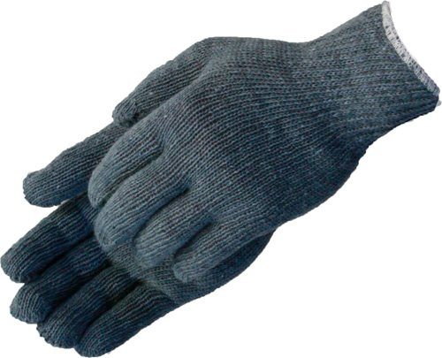 Liberty P4527G Cotton/Polyester Heavyweight Plain Seamless Knit Glove with Elastic String Knit Wrist, Medium, Gray (Pack of 12)