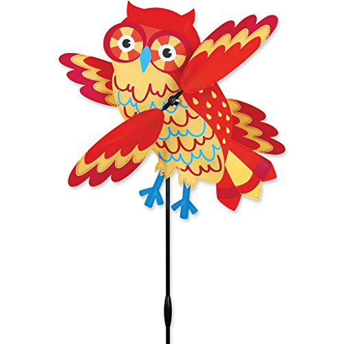 Premier Kites Whirligig Spinner Orange Owl Spinner