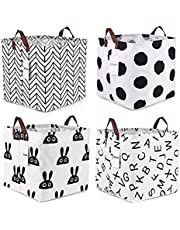 Storage Bins Foldable Storage Basket Collapsible Cubes Organizer Fabric Storage Boxes Drawers Container Suitable for Office, Bedroom, Closet, Toys, Laundry, Medium Gray …