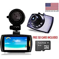 Dash Cam With FREE SD Card Itek Slimline, 2.4 Screen, Wide Angle View And Night Vision Dashboard Camera, Parking Monitor, Loop Recording, 1080p HD With HDMI car cam w/ G-sensor