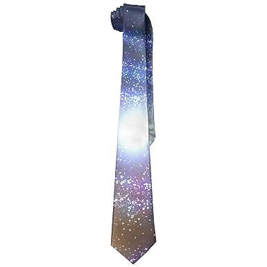 Moda Starry Sky Corbata para hombre Corbata larga Corbata delgada ...