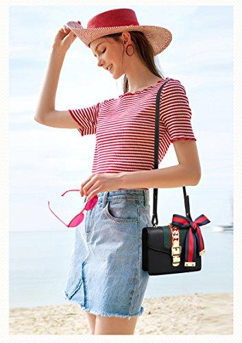 de de main sac rubans tout de à de pour à bandoulière Sacs sac à concepteur sac main le fourre Black classique de sac bandoulière larges à vw5qSHnP