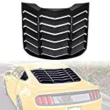 Automotive : Opall ABS Rear Window Louvers Scoop Louvers GT Lambo Style in Matte Black for Ford Mustang 2015 2016 2017 2018