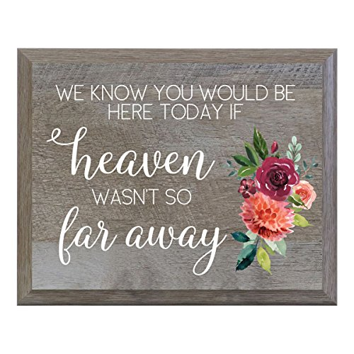 LifeSong Milestones If Heaven wasn't so far away Decorative Wedding Memorial Party sign for Ceremony and Reception for Bride and Groom -
