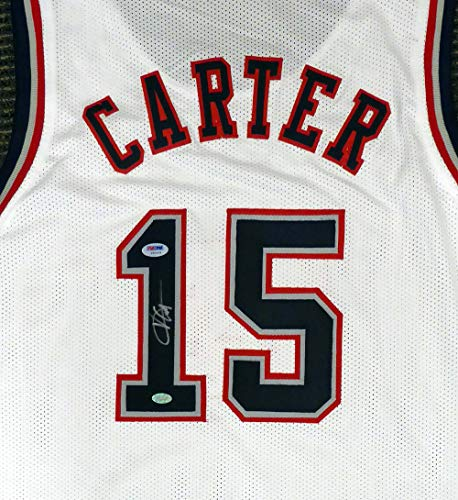 Basketball Carter Vince (New Jersey Nets Vince Carter Autographed White Jersey PSA/DNA)