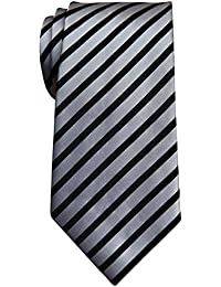 "Stylish Diagonal Striped Woven Microfiber 3.15"" Men's Tie - Various Colors"