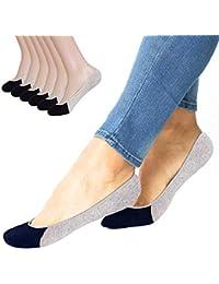 6 Pairs No Show Socks Women Men for Flats Cotton Low Cut Liner Socks Non Slip