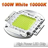 Hontiey High Power LED Chip 100W Cool White Light 10000K-15000K Cold Bulbs 100 Watt Beads DIY Spotlights Floodlight COB Integration Lamp SMD