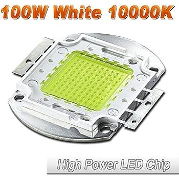Hontiey High Power LED Chip 100W Cool White Light 10000K-15000K Cold