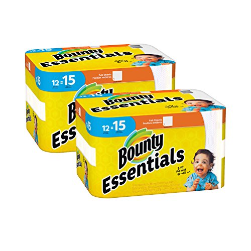 Bounty Essentials Full Sheet Paper Towels, 24 Large Rolls by Bounty