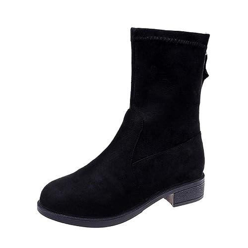 4db920627cd Botines Altos de Invierno para Mujer Otoño 2018 Moda PAOLIAN Botas Militares  Terciopelo Plano Cuña Zapatos de Señora Calzado Mini Tacón Dama Botas de  Nieve ...