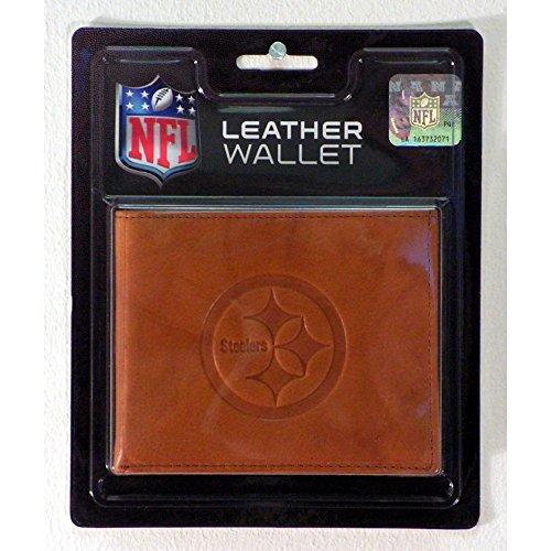 Embossed Leather Billfold - Pittsburgh Steelers NFL NEW STYLE Embossed Leather Billfold Wallet