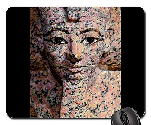 Mouse Pad - Sculpture Statue Art Face Ancient Egyptian Museum ()
