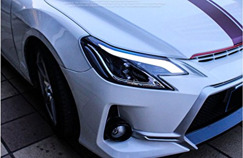 GOWE Car Styling for Toyota Reiz led headlights 2013-2016 new Mark X LED Head Lamp signal drl H7 hid Bi-Xenon Lens low beam Color Temperature:6000K;Wattage:55K 0