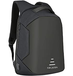 Fur Jaden 15 Ltrs Grey Anti Theft Waterproof Backpack  Amazon.in ... e9f46f9b6f