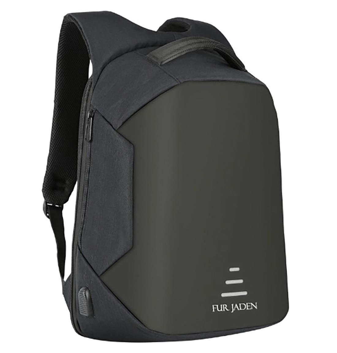 Fur Jaden 20 Ltrs Black Anti Theft Waterproof Backpack