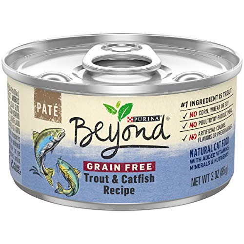 Purina Beyond Grain Free, Natural Pate Wet Cat Food; Grain Free Trout & Catfish Recipe - 3 oz. Can (12 ()