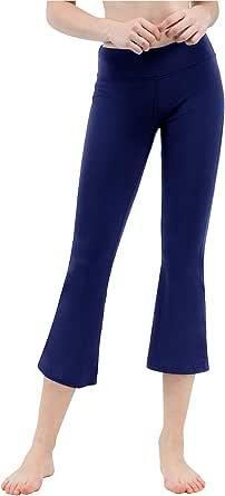 TAIBID Women's Yoga Bootleg Pants Workout Capris Inner Pocket, Size S-XL