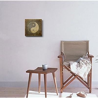 Beautiful Expertise, Professional Creation, Yin Yang Symbol on Vintage Textured Background