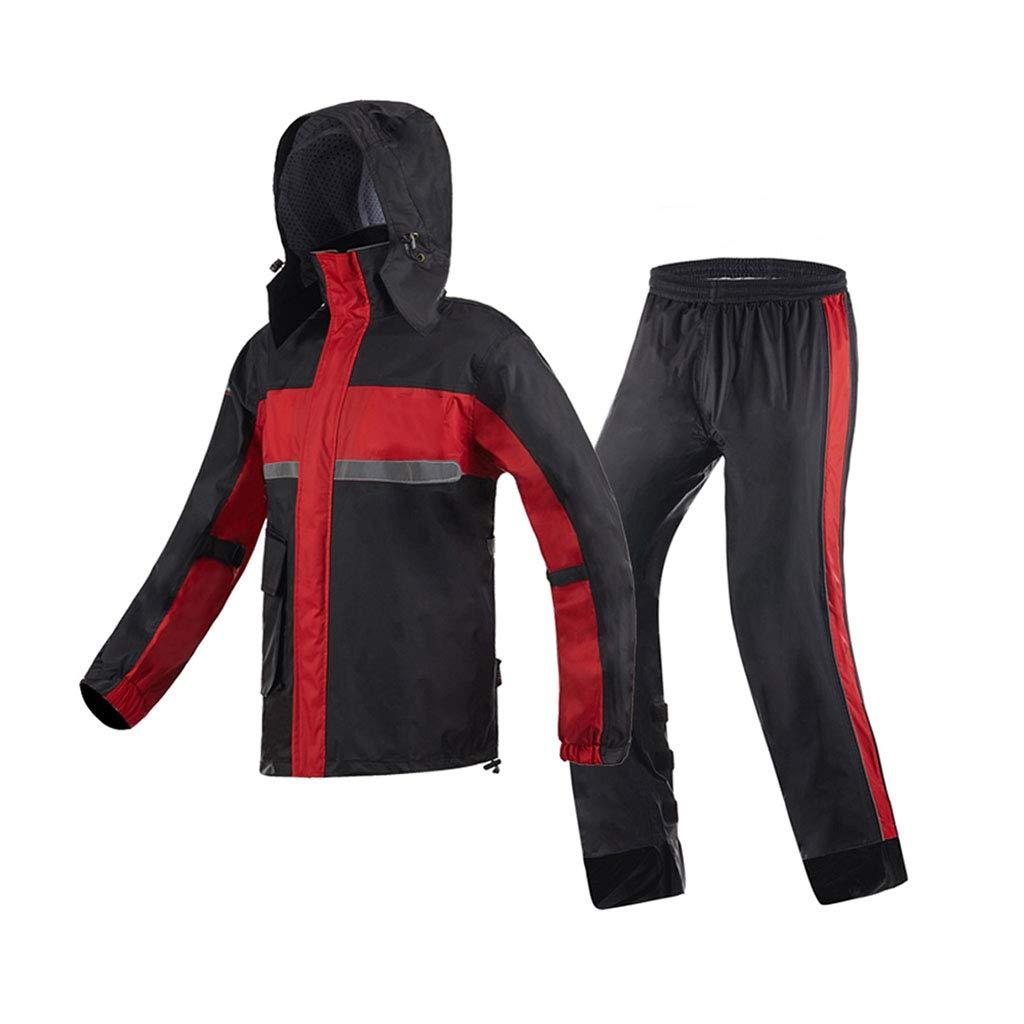 LYP-Rainwear Regenbekleidung Anzug Motorrad Split-Typ Erwachsener Atmungsaktiver Regenmantel + Hose Wasserdicht Männer und Frauen Poncho-Set Outdoor Reiten/Angeln / Bergsteigen