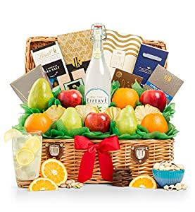 GiftTree Sweet Celebration Fresh Fruit & Premium Snack Food Gift Basket   Great Gift for Birthdays, Holidays, or Any Occasion
