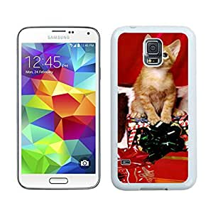 Design for Mass Customization Christmas Cat White Samsung Galaxy S5 Case 1