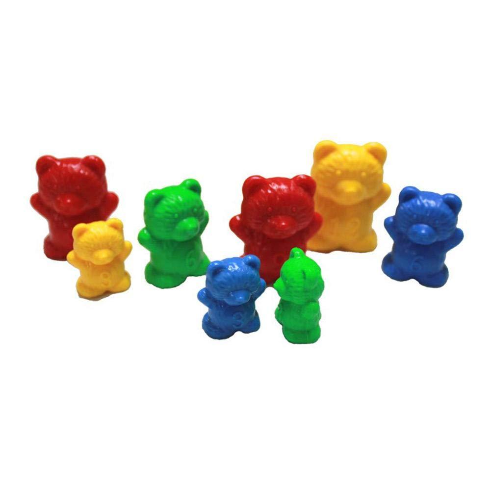 HUVE Comptage des Oursons Jouet dapprentissage 96 Compteurs Arc-en-Ciel Supportent Le Poids avec Loutil De Marquage Color/é Outil P/édagogique Color/é pour Lapprentissage Formation des STEM